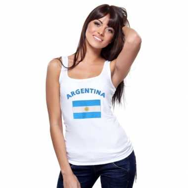 Argentijnse vlag tanktop/ singlet dames