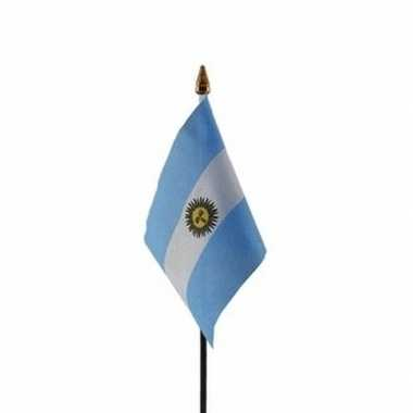 Argentinie luxe zwaaivlaggetje polyester