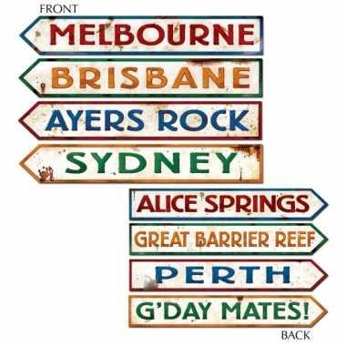 Australie deco wegwijzers