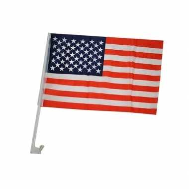 Auto vlaggetje amerika 30 45