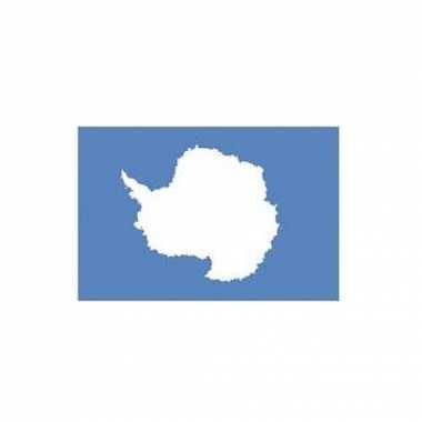 Blauwe antarctica vlag