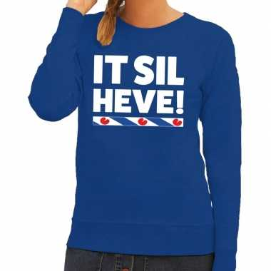 Blauwe trui / sweater friesland it sil heve dames