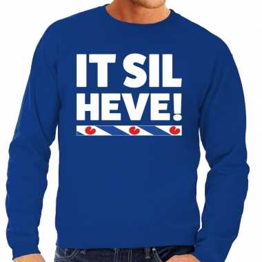 Blauwe trui / sweater friesland it sil heve heren