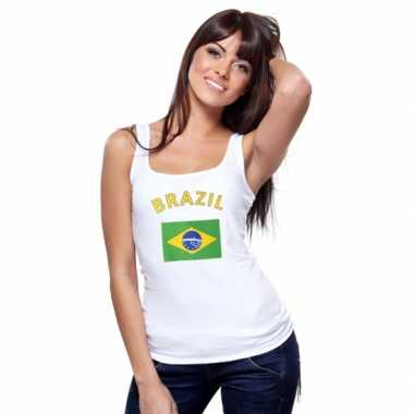 Brasiliaanse vlag tanktop / singlet dames