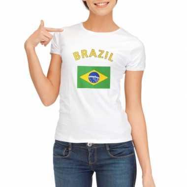 Braziliaanse vlaggen t shirt dames