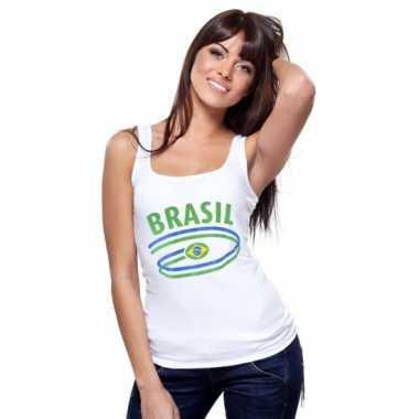 Braziliaanse vlaggen tanktop dames