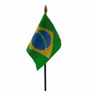 Brazilie luxe zwaaivlaggetje polyester