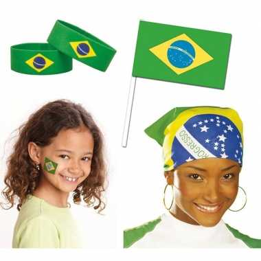 Brazilie thema verkleed set