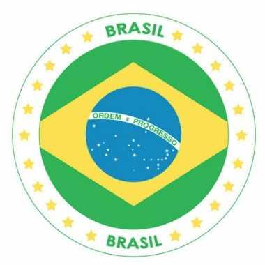 Brazilie vlag bierviltjes