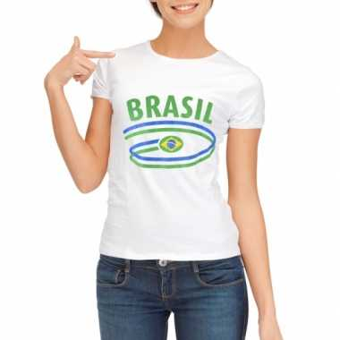 Brazilie vlaggen t shirts dames