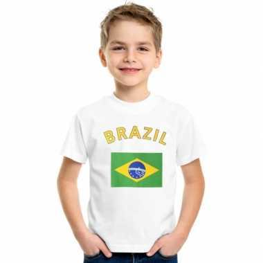 Brazilie vlaggen t shirts kinderen