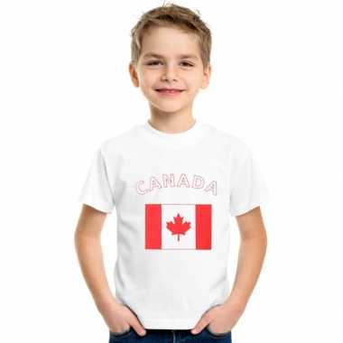 Canadees vlaggen t shirts kinderen