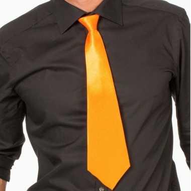 Carnaval/feest stropdas oranje 41 volwassenen