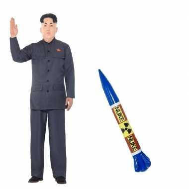 Carnavalskleding noord koreaanse leider raket