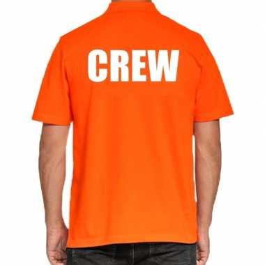 Crew poloshirt oranje heren