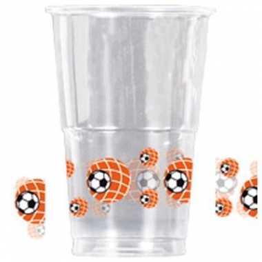 Drink beker plastic voetbal