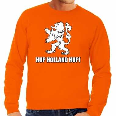 Ek / wk supporter sweater hup holland hup oranje heren
