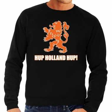 Ek / wk supporter sweater hup holland hup zwart heren