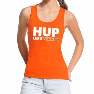 Ek / wk supporter tanktop / hemd hup leeuwinnen oranje dames