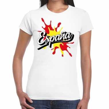 Espana/spanje t shirt spetter wit dames