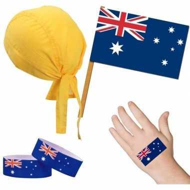 Fan artikelen set australie thema volwassenen