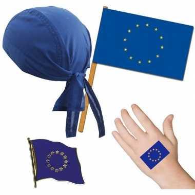 Fan artikelen set europa thema volwassenen