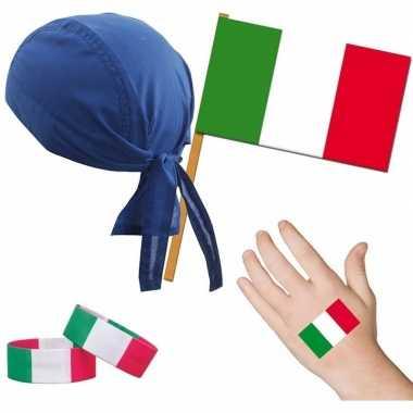 Fan artikelen set italie thema volwassenen