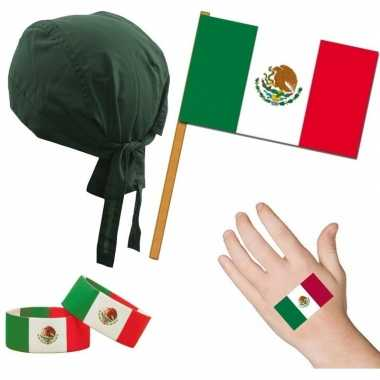 Fan artikelen set mexico thema volwassenen