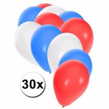 Feest ballonnen kleuren amerika 30x