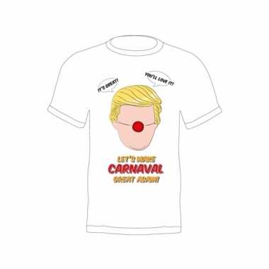 Feest donald trump shirt make carnaval great again
