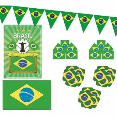 Feestartikelen brazilie versiering pakket
