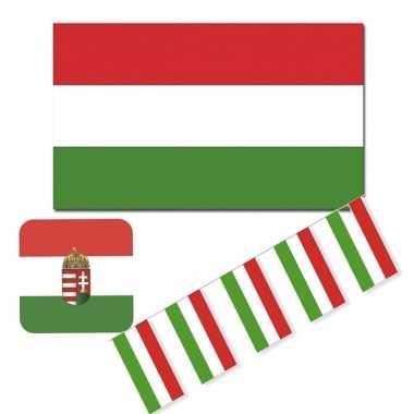 Feestartikelen hongarije versiering pakket