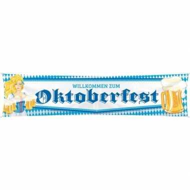 Feestartikelen oktoberfest mega vlag/banner/doek 40 180