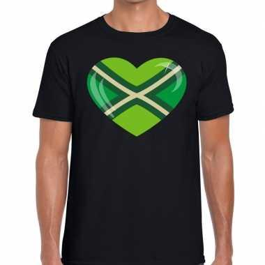Festival shirt i love zwarte cross zwart heren