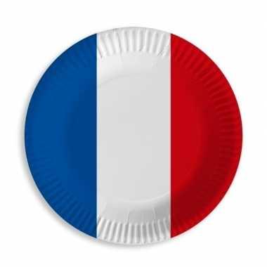 Frankrijk blauw wit rood wegwerp bordjes 10 stuks