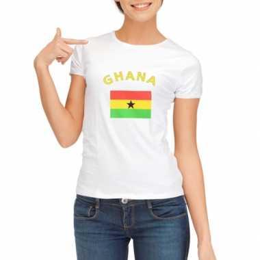 Ghanese vlaggen t shirt dames