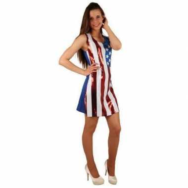 Glitter jurk amerikaanse vlag