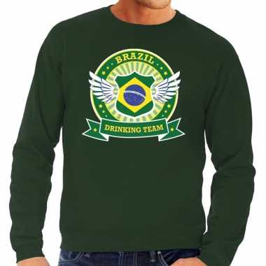 Groen brazil drinking team sweater heren
