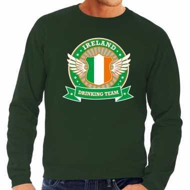 Groen ireland drinking team sweater heren