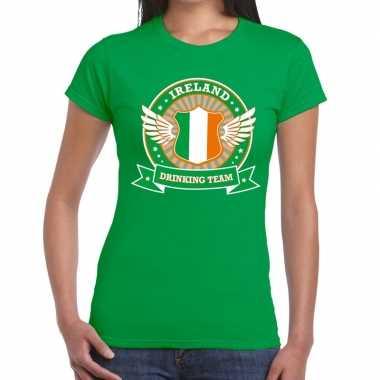 Groen ireland drinking team t shirt dames