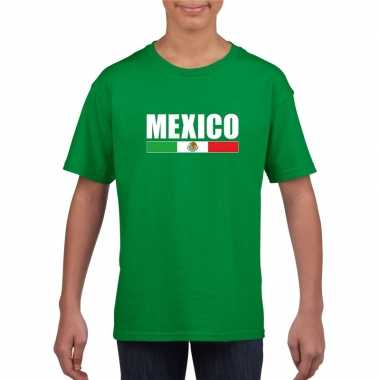 Groen mexico supporter t shirt kinderen