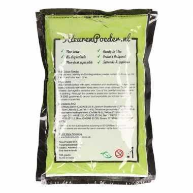 Groene kleurpoeder 100 gram
