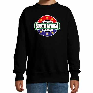 Have fear south africa is here / zuid afrika supporter sweater zwart kids