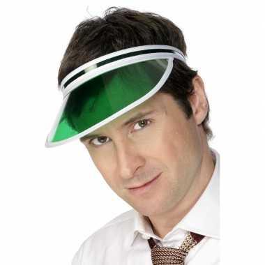 Hippe groene poker zonneklep