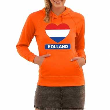 Holland hart vlag sweater capuchon dames
