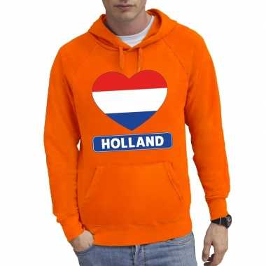 Holland hart vlag sweater capuchon heren