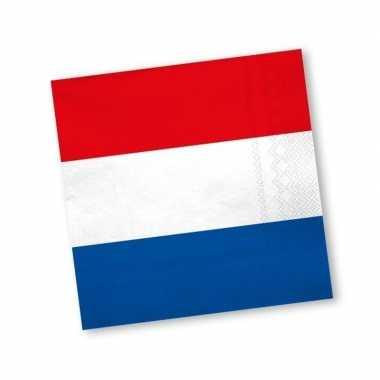 Holland rood wit blauw servetten 20 stuks