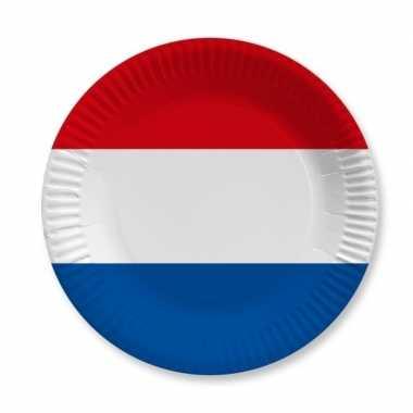 Holland rood wit blauw wegwerp bordjes 10 stuks