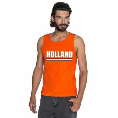Holland supporter singlet oranje heren