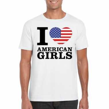 I love american girls vakantie t shirt amerika heren